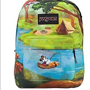 02f859f161a Jansport Bags - Disney Mickey Pluto Fishing Jansport Backpack